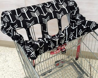 Shopping trolley cover / trolley liner for single or double seat