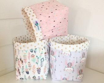 Fabric storage basket (square)