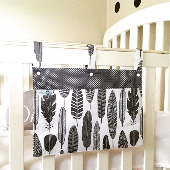 Cot Organiser Book Caddy Bed Pocket Crib Organizer For Baby Etsy