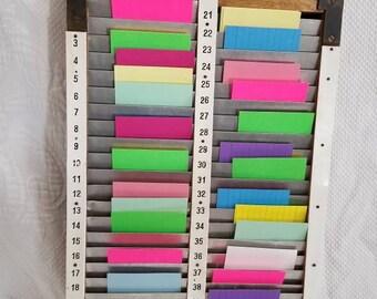 vintage time card slot holder - Time Card Holder