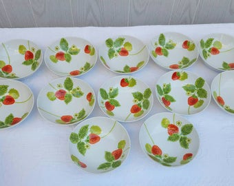 Vintage Fitz and Floyd STRAWBERRY BOWLS