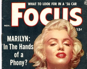 Magazine   Focus   1955  Marilyn Monroe Cover + 3 images   Sophia Loren 6 Great Photos  Elsa Martinelli  Rita Moreno  Scandals more