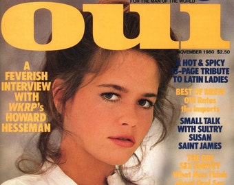 Oui  Magazine  1980   Amazing 36-22-31 Leslie Graves on Cover and inside   Jane Birkin  WKRP Howard Hesseman  Sexy Hot Lusty Women  mature