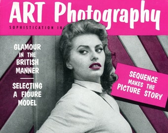 Magazine  Art Photography  1956  Sophia Loren Cover  Brigitte Bardot   plus Many Beautiful Women Actresses Figure Models inside  mature