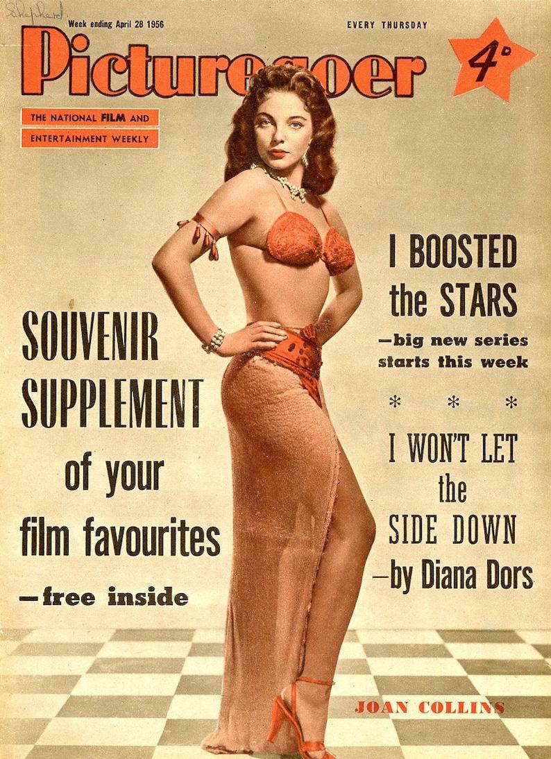 Picturegoer Magazine 1956  Joan Collins on Cover  Diana Dors image 0