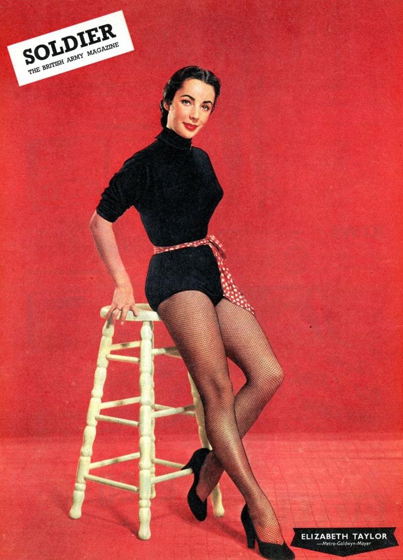 Elizabeth Taylor  Soldier Magazine  1955  British Military image 0