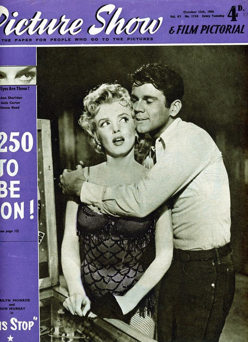 Marilyn Monroe Cover Picture Show Magazine 1956   Bus Stop .. image 0