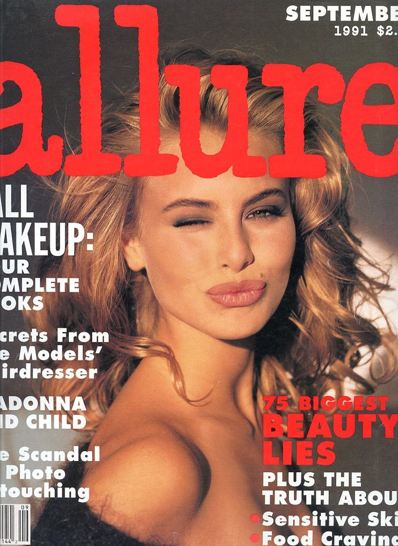 Allure Magazine  1991  16 Year Old Niki Taylor Cover  Julia image 0