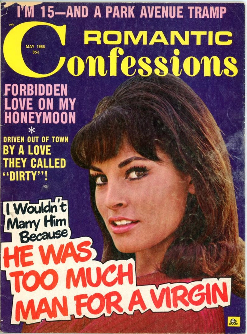 Romantic Confessions Magazine 1966 Early Raquel Welch Cover  I image 0
