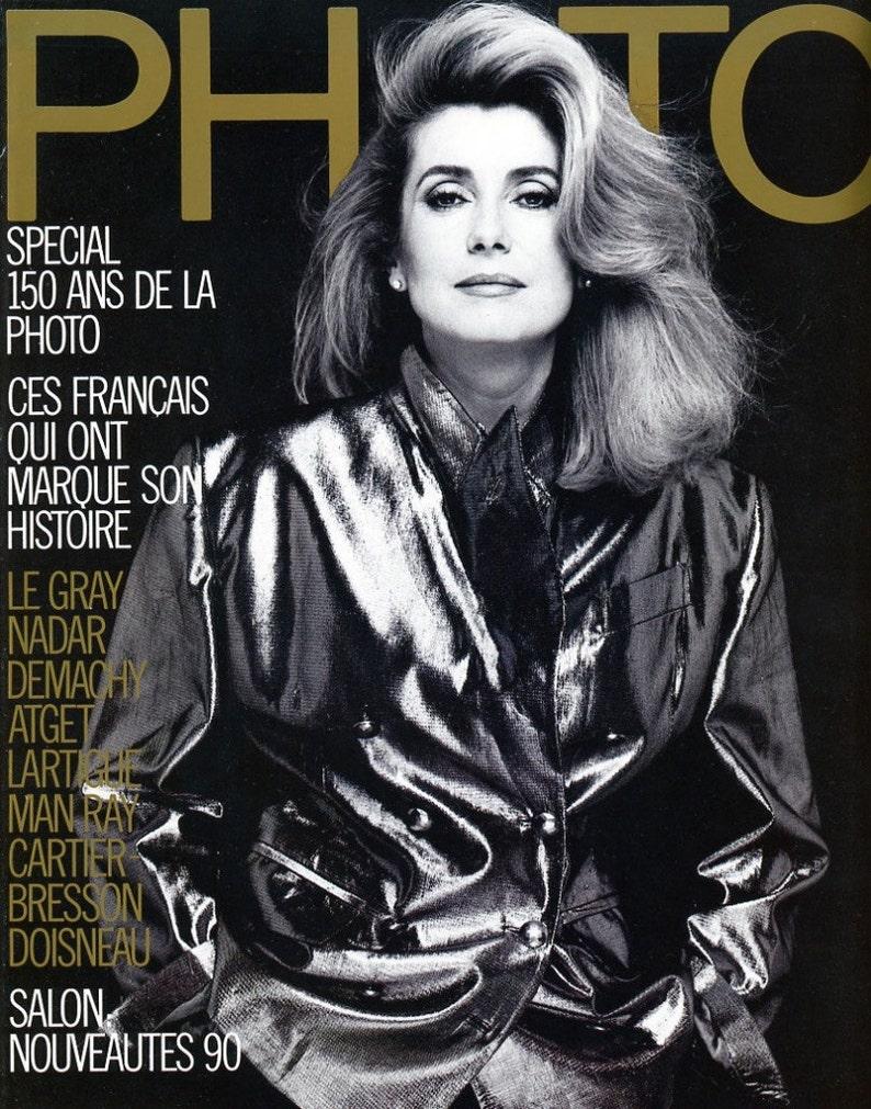 Photo Magazine 1989 Catherine Deneuve Anna Karina Bettina image 0