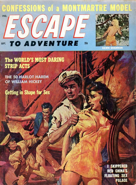 Escape To Adventure Magazine 1962 Models Strippers Harlot  Etsy-7822