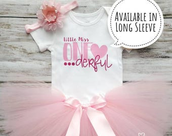Miss One-derful Birthday Outfit   Onederful Birthday   First Birthday Outfit   1st Birthday   Pink Birthday   Cake Smash Outfit   Photo Prop