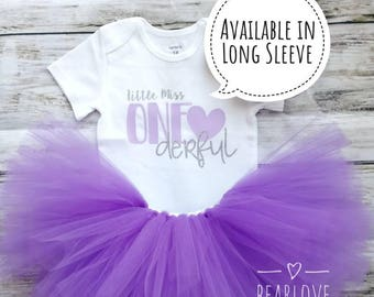 Little Miss Onederful Birthday Outfit | One-derful Birthday | First Birthday Outfit | Purple Birthday | Cake Smash Outfit | Photo Prop