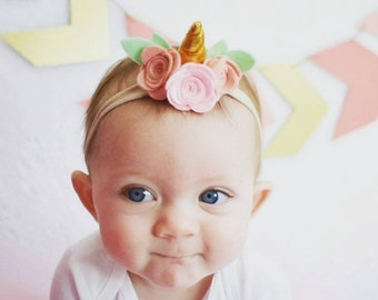 Unicorn headband baby  51cdfa62876