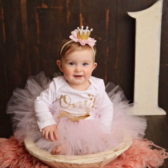 Baby Girl 1st Birthday Outfit.Baby Girl 1st Birthday Outfit Twinkle Twinkle Birthday Pink And Gold Birthday Tutu First Birthday Dress Cake Smash Little Star