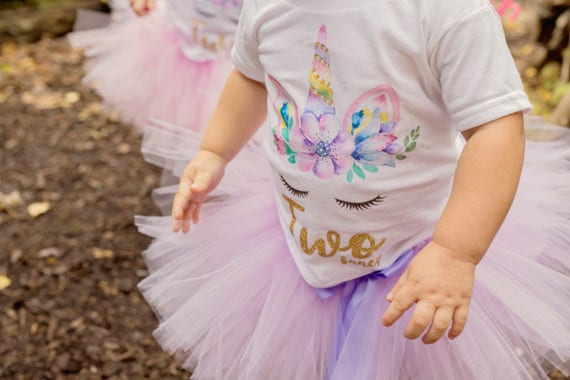 Unicorn Outfit 2nd Birthday Second Shirt