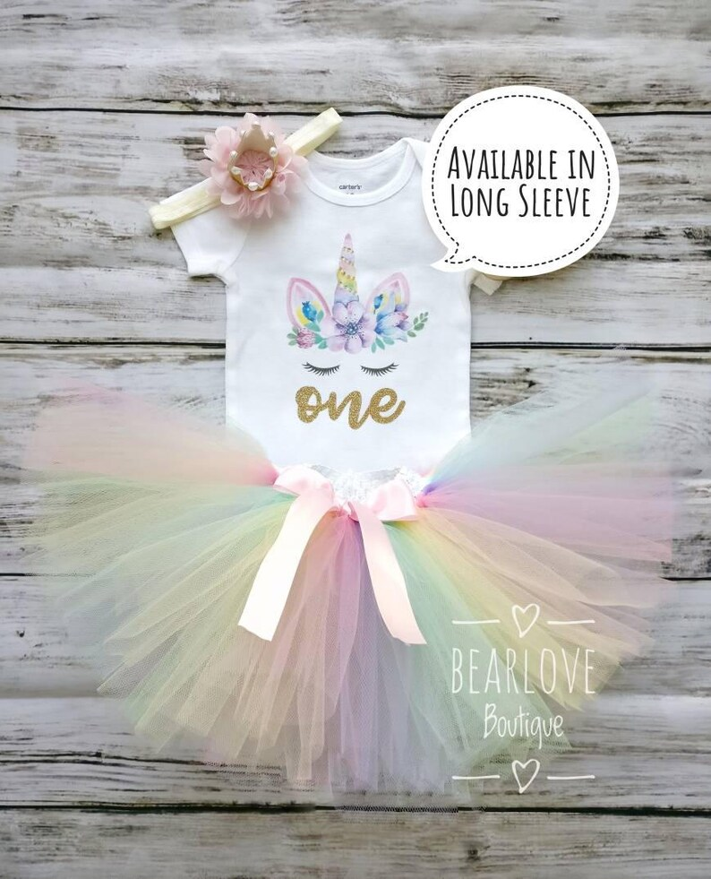 e9c9f3f2e415 Unicorn Birthday Outfit First Birthday Outfit Girl 1st image ...