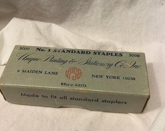 Vintage box of No. 1 Standard Staples