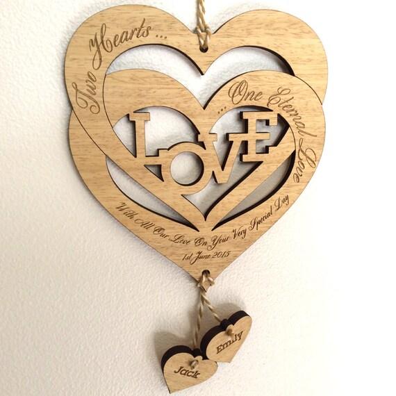 Personalised Wooden Wedding//Anniversary//Engagement Gift Plaque//Sign Keepsake