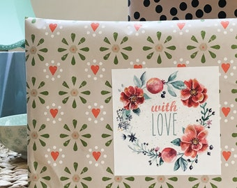 Gift Stickers, with love (6 pieces)