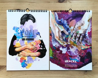 """SALE_Wandkalender 2021 """"in creation you are created"""" A4_25% DISCOUNT"""