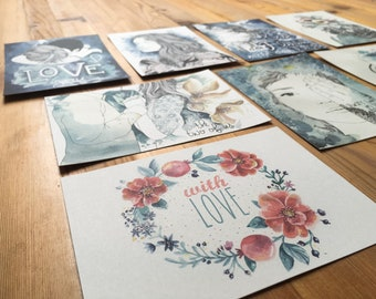 Postcard set YOURCHOICE, 12 pieces