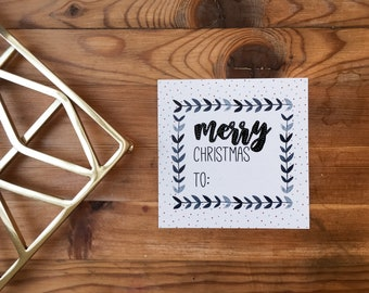 Gift stickers, merry christmas (6 pieces)