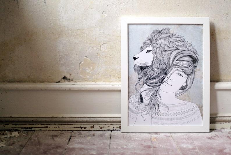 Lioness digital print A3 image 0