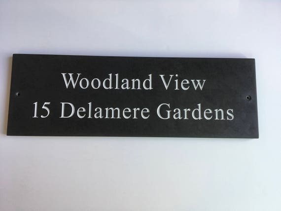 Awe Inspiring Slate House Door Gate Sign 450Mm X 150Mm Download Free Architecture Designs Boapuretrmadebymaigaardcom