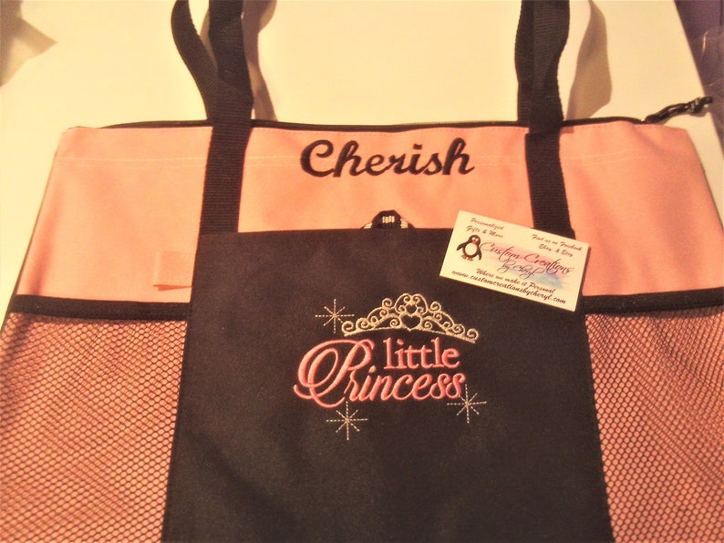 Little Princess Crown Personalized Tote Bag Personalized  Personalized Tote bag .. Great Gift Idea !!