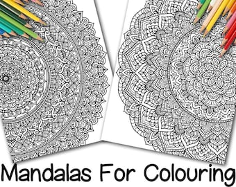 Two Full-Page Mandalas for Colouring