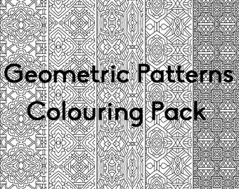 Geometric Patterns Colouring Pack