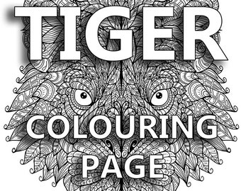 Tiger Colouring Page