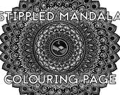 Stippled Mandala Colourin...