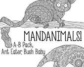Mandanimals Colouring Pag...