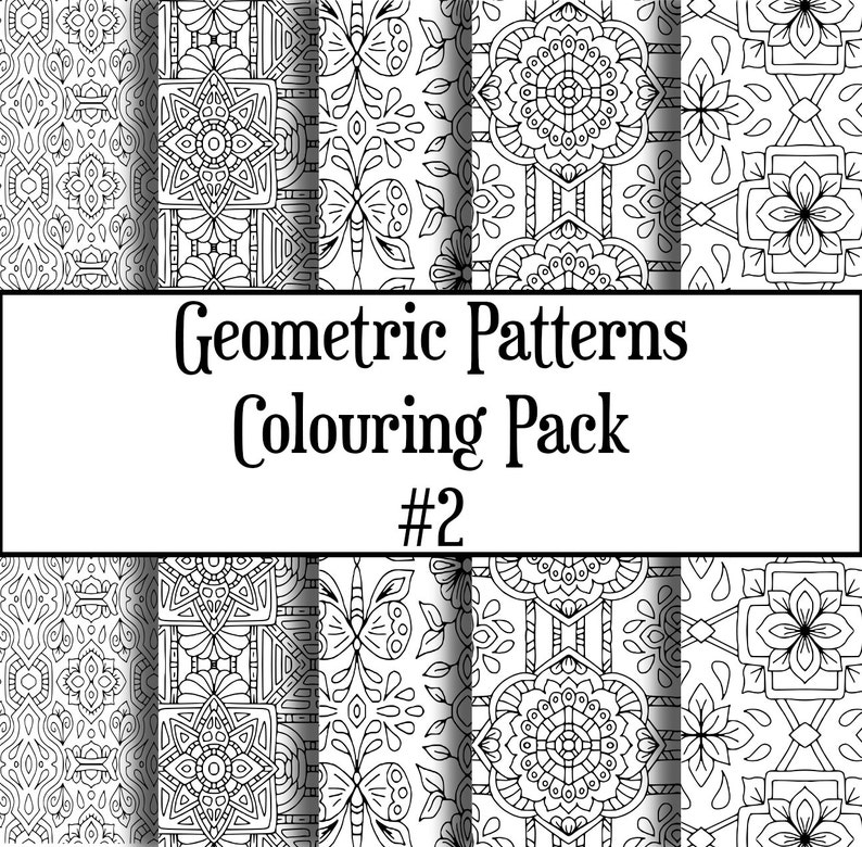Geometric Patterns Colouring Pack 2 image 0
