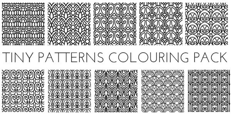 Tiny Patterns Colouring Pack image 0