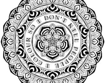 Digital Download - I Colour So I Don't Kill People