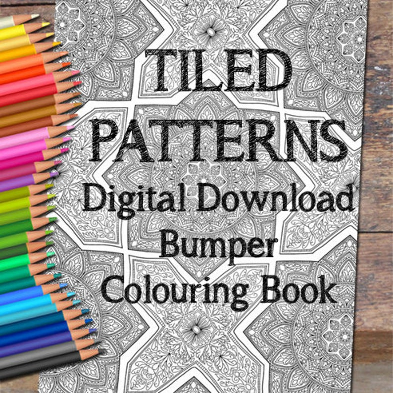 Tiled Patterns Colouring Pack image 0