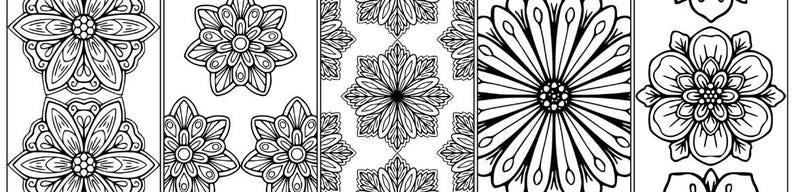 Floral Bookmark and Tags Pack image 0