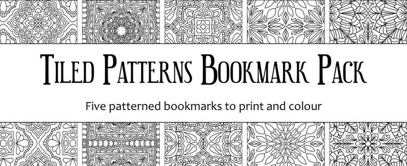 Tiled Patterns Bookmark Pack 1 image 0