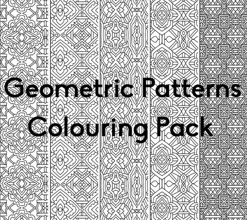 Geometric Patterns Colouring Pack image 0