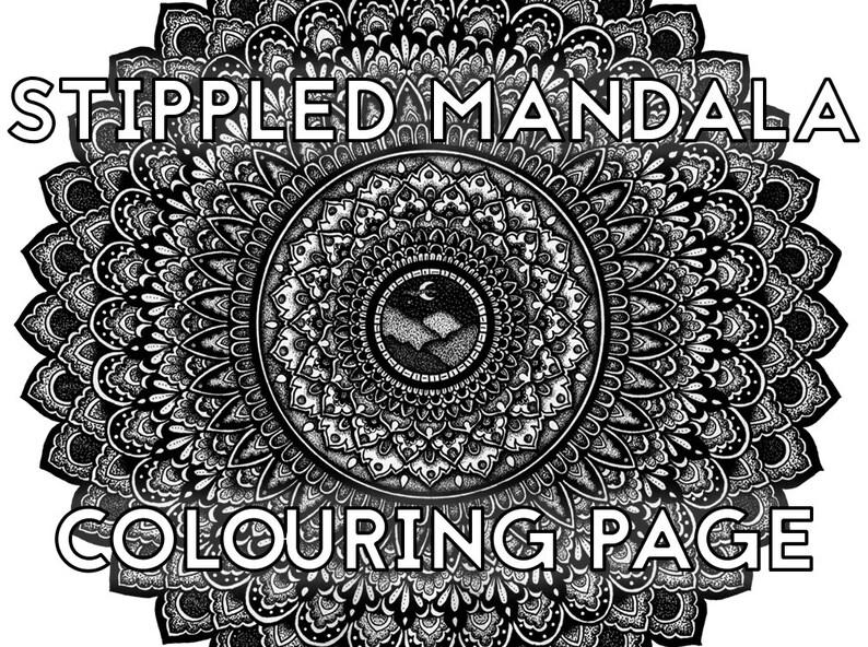 Stippled Mandala Colouring Page image 0