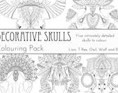 Decorative Skulls Colouri...