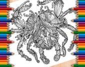Crab Tangle Digital Colou...