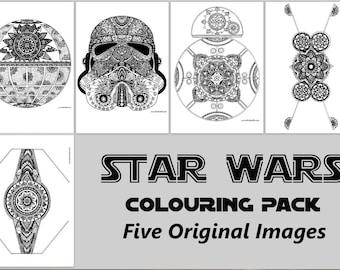 Star Wars Digital Colouring Pack