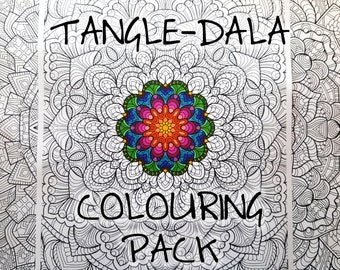 Tangle-Dala Digital Colouring Pack