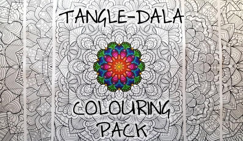 Tangle-Dala Digital Colouring Pack image 0