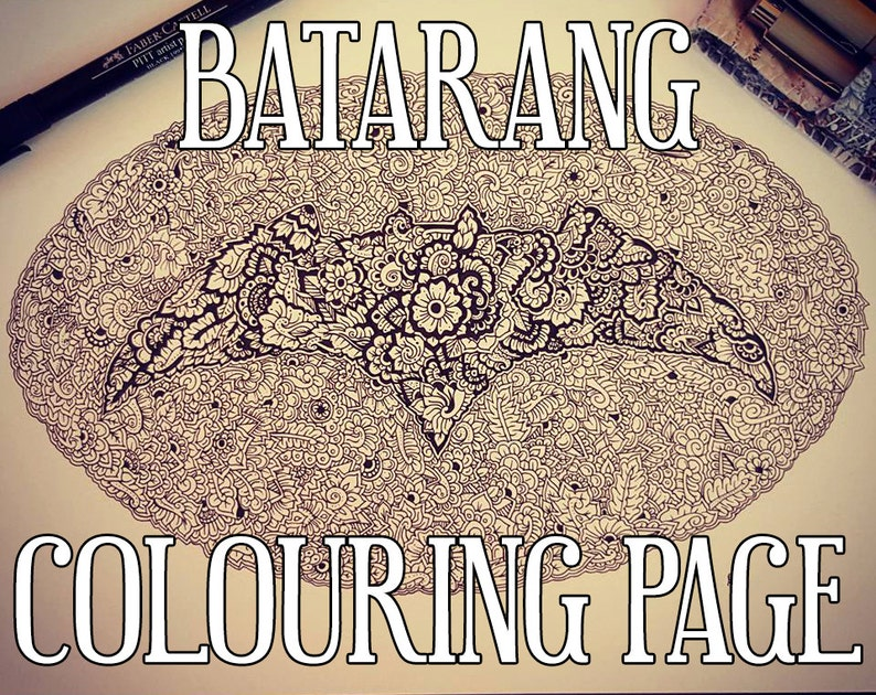 Batarang Detailed Colouring Page image 0