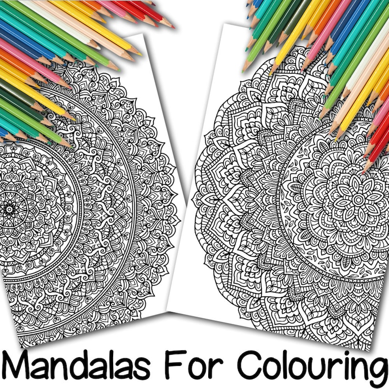 Two Full-Page Mandalas for Colouring image 0